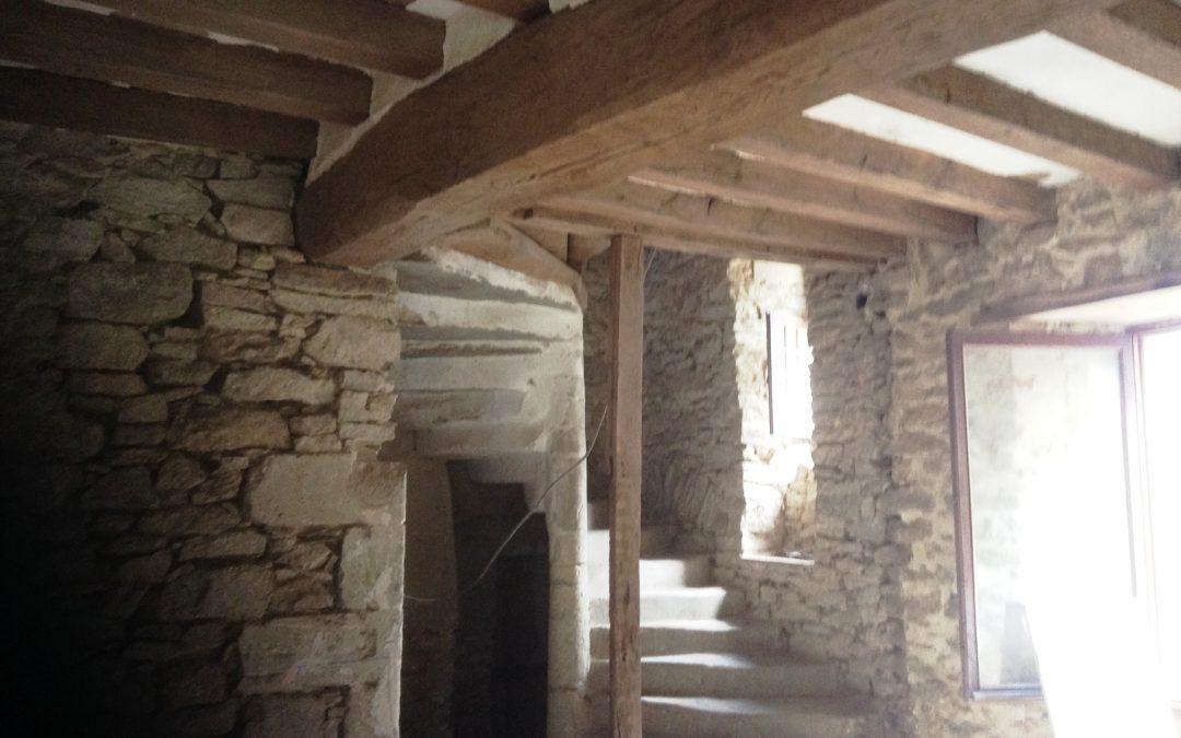 Sablage ,aerogommage,decapage de pierres vues et de poutres Maine et Loire