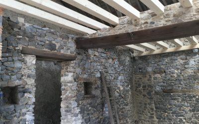 Sablage par Aerogommage de murs pierres vues dans le 53