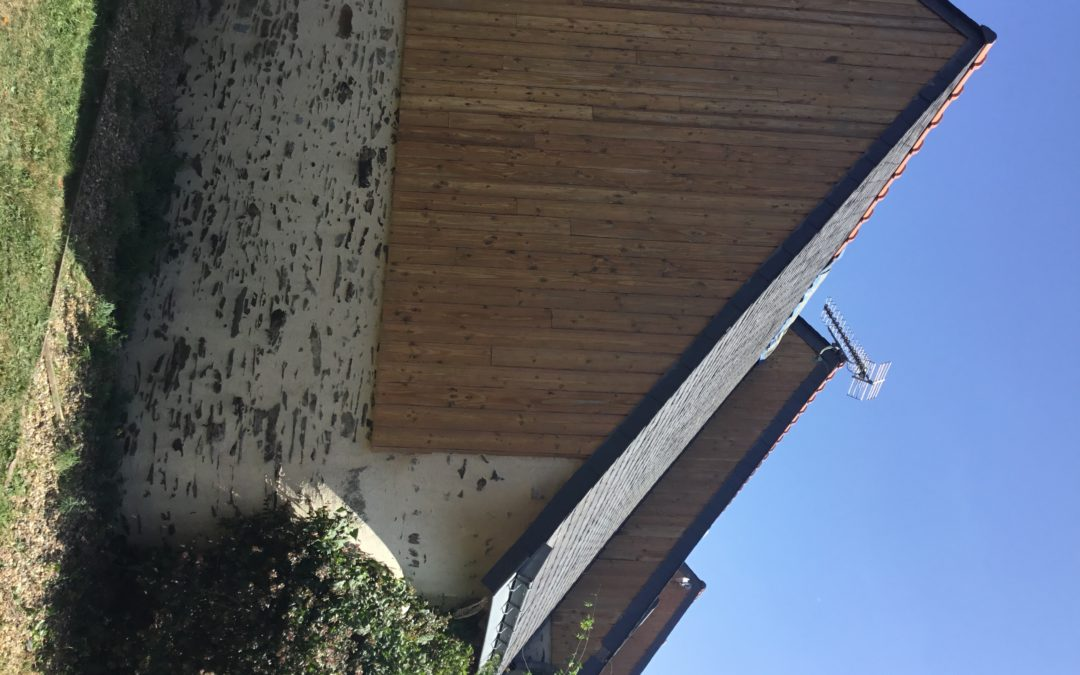 Sablage aerogommage façade bois à  Grez Neuville