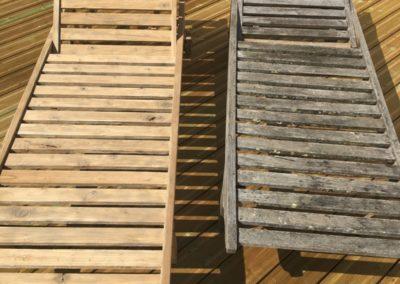 Aerogommage,décapage de mobilier de jardin et terrasses bois